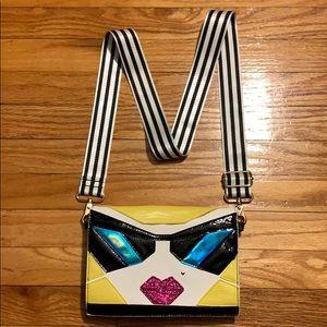Betsey Johnson Kitsch Face Crossbody Bag